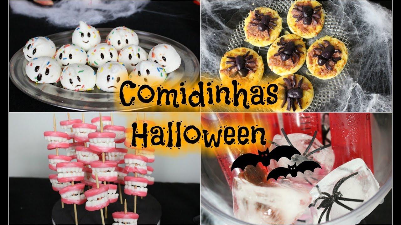 DIY COMIDINHAS FESTA HALLOWEEN YouTube -> Decoração De Festa De Aniversario Halloween
