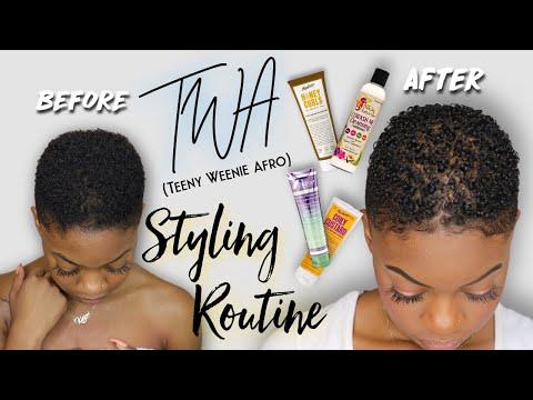 How I CoWash & Style My Short Natural Hair TWA