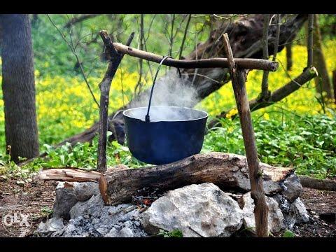 Как приготовить кашу на костре  Вкусная солдатская каша  Рецепты на природе