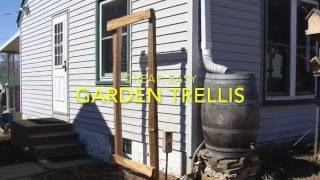 Cheap, Easy, DIY Garden Trellis Using Cedar Split Rails. Music is Waltz of the Flowers by Tchaikovsky, free to use from the Youtube