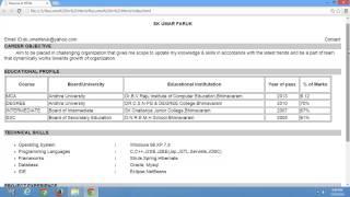Resume in HTML