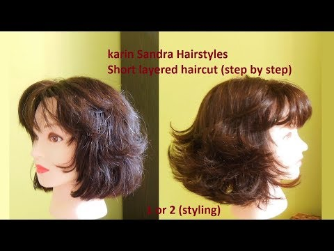 Haircut Tutorial : Short Layered Bob Haircut With Bangs for women