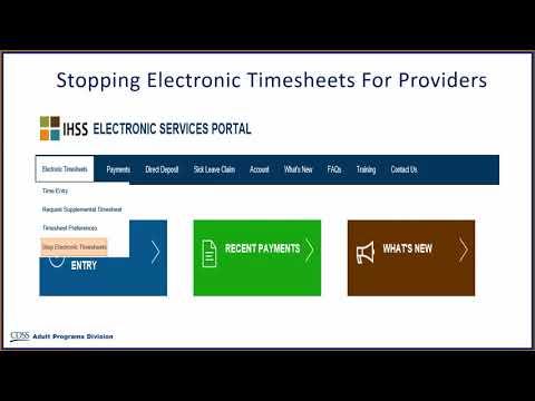 Electronic Timesheets