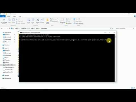 Anaconda Python OpenCV Offline Install using Command Prompt 2018