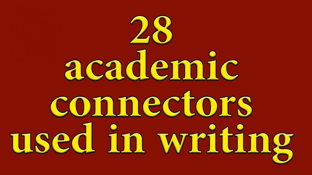 academic writing connectors