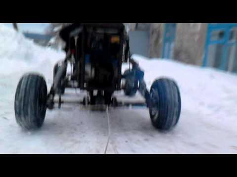 видео: Самодельный картинг зимой