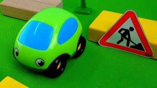 Машинки. Мультики про машинки. Дорожные знаки для детей. Предупредительные знаки - Дорожные работы.