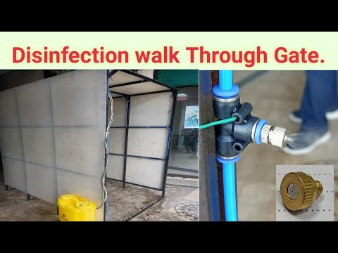 Disinfection walk Through Gate