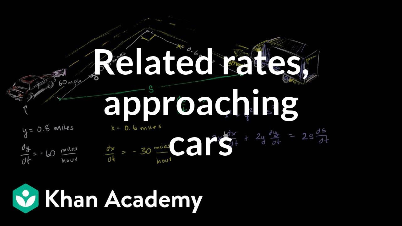 Related rates: Approaching cars (video) | Khan Academy