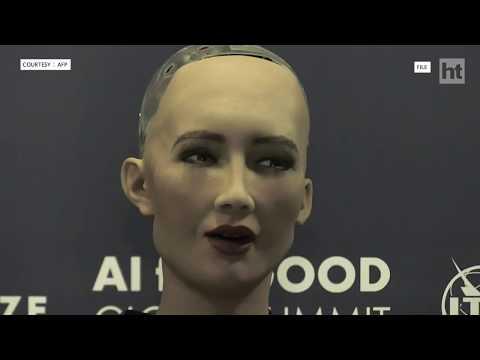 Humanoid robot Sophia loves Shah Rukh Khan
