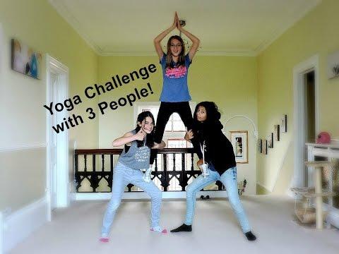 Yoga Challenge With 3 People Youtube