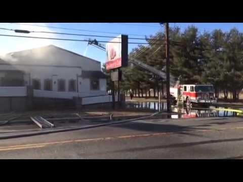 Firefighters battle blaze at Vineland Gentlemen's Club, Double D's, March 12, 2015