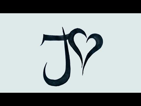 How To Draw J Alphabet Tattoo With Heart J Letter Tribal Tattoo Drawing