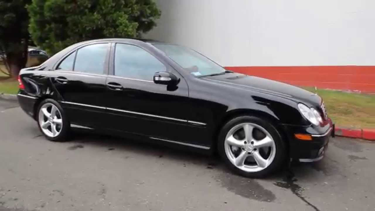 2005 mercedes benz c class c230 kompressor sport black. Black Bedroom Furniture Sets. Home Design Ideas