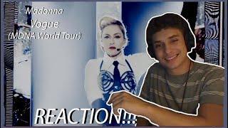 Madonna - Vogue (from MDNA World Tour) REACTION!!