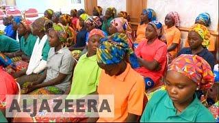Freed Chibok girls meet Nigeria's leader Buhari
