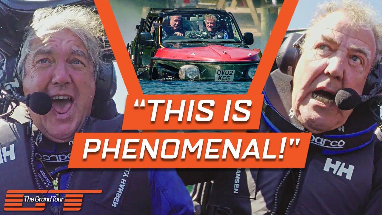 Jeremy Clarkson Tests His Jet Engine Powered Amphibious Car | The Grand Tour