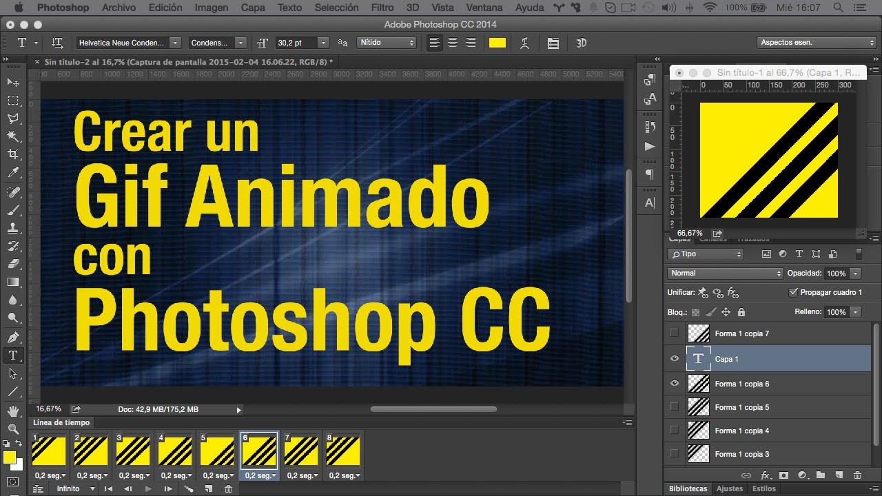 Crear Un Gif Animado Con Photoshop Cc Youtube