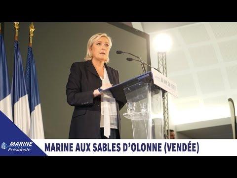 Marine Le Pen aux Sables d'Olonne en Vendée (27/03/2017) I Marine 2017