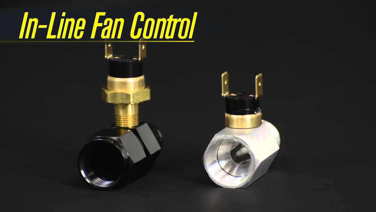 6AN Derale 180 Degree F In-Line Remote Cooler Fan Control Thermostat