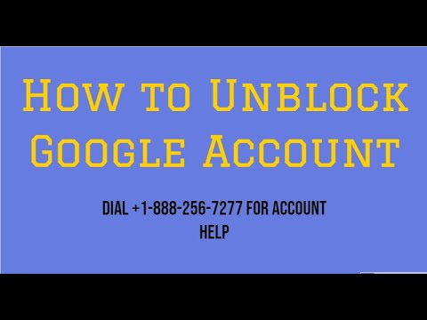 How To Unblock Blocked Google Account