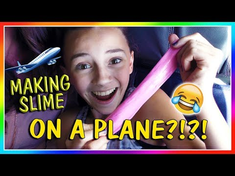 MAKING SLIME ON A PLANE😱 | We Are The...