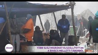 Több száz migránst elszállítottak a Bihács melletti táborból