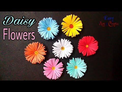 Paper Flower - DIY  Daisy Flower -  How to Make Beautiful Daisy Paper Flowers Tutorial