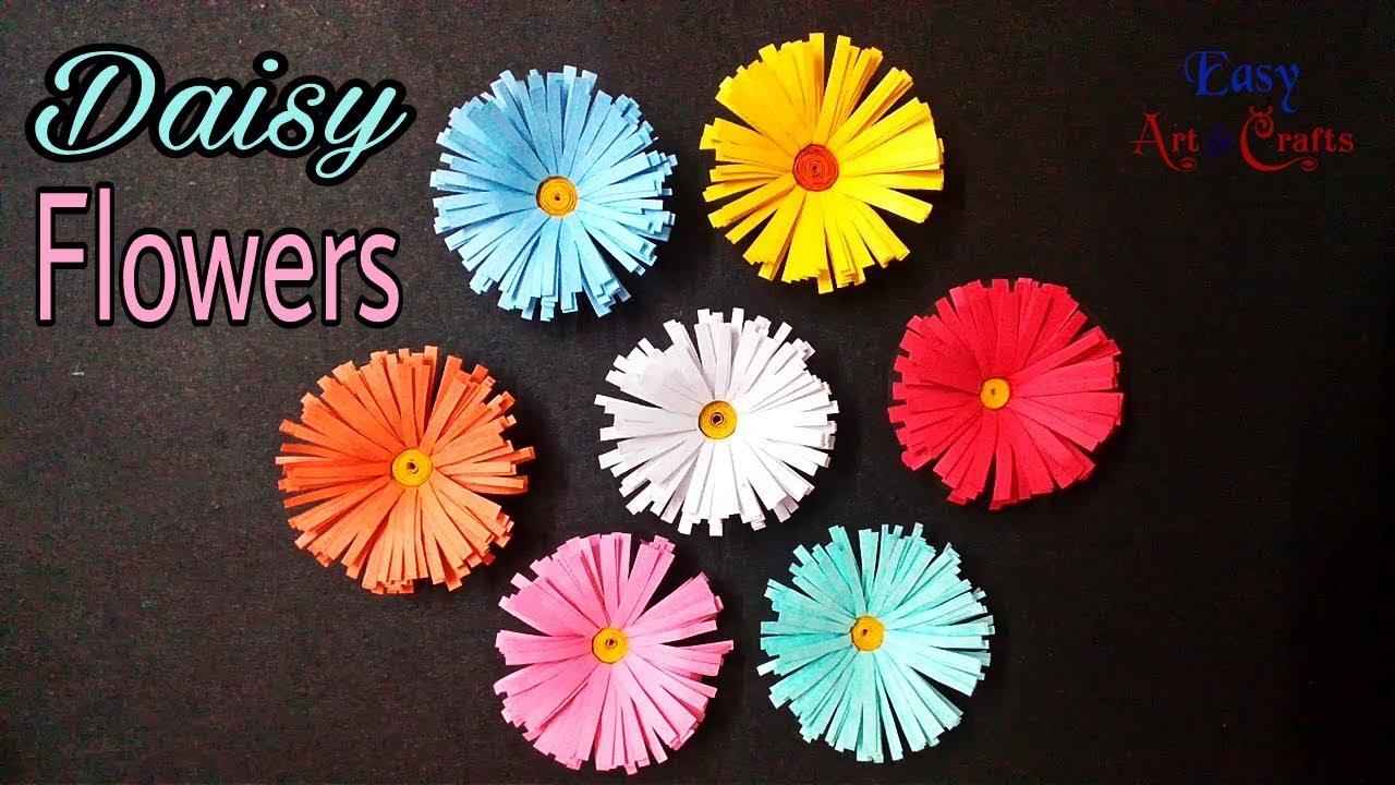Paper flower diy daisy flower how to make beautiful daisy paper paper flower diy daisy flower how to make beautiful daisy paper flowers tutorial izmirmasajfo
