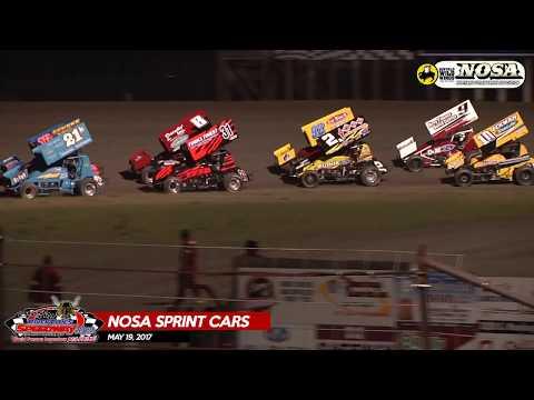 5/19/17 NOSA Sprint Car Feature Highlights | River Cities Speedway
