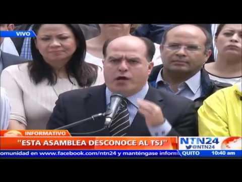 """Parlamento venezolano desconoce al Tribunal Supremo tras """"golpe de Estado"""""""