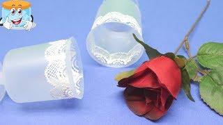 Как Украсить Посуду из Пластика Своими Руками Поделки Самоделки