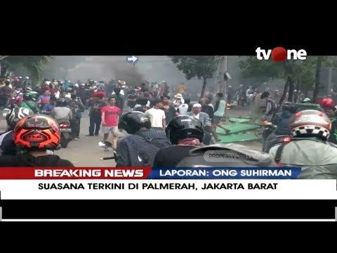 [BREAKING NEWS] Suasana Terkini Di Jl. MH. Thamrin - Palmerah - Petamburan (22/5/2019)
