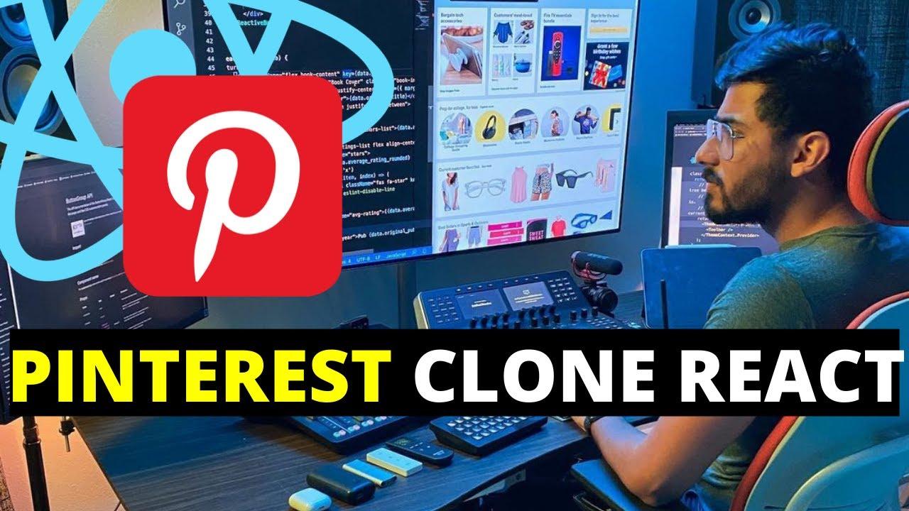 Building the Pinterest Clone ReactJS Part 1 of 3 | For Beginners