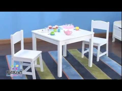 KidKraft Aspen Table & 2 Chair Set - White 21201 - Wooden Kids ...