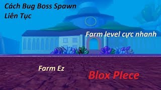 Tip Bug Boss Spawn continuously in Blox Piece | Roblox | Ultra fast Farm Level