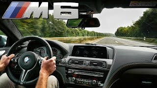 BMW M6 2017 ACCELERATION & TOP SPEED on AUTOBAHN 600 HP COMPETITION
