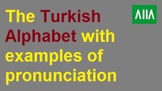 Turkish Alphabet Turkce Alfabesi