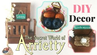 🏡ARRIETTY inspired DIY Room DECOR-Miniature house-Polymer Clay Blueberries, Almonds-Tutorial