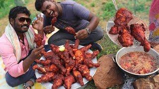 KING OF CHICKEN LEGS Fry   Spicy and Crispy Chicken Legs   VILLAGE FOOD