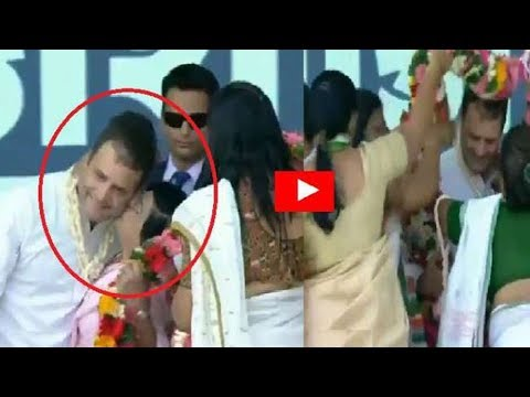 Woman kisses #RahulGandhi during a rally in Valsad Mp3
