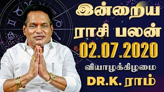 Raasi Palan 02-07-2020 Rajayogam Tv Horoscope
