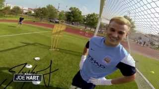 Repeat youtube video Joe Hart and Carlos Teves from Manchester City Decided to remove the video from the first person