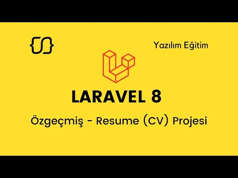 Laravel 8: Özgeçmiş Resume (CV) Projesi - 18 (Portfolio-5)