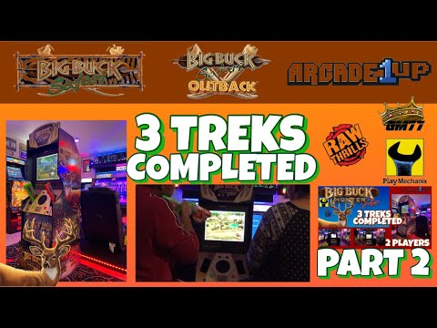 ARCADE1UP BIG BUCK SAFARI.....3 TREK  GAME PLAY PT. 2 from GameMom77