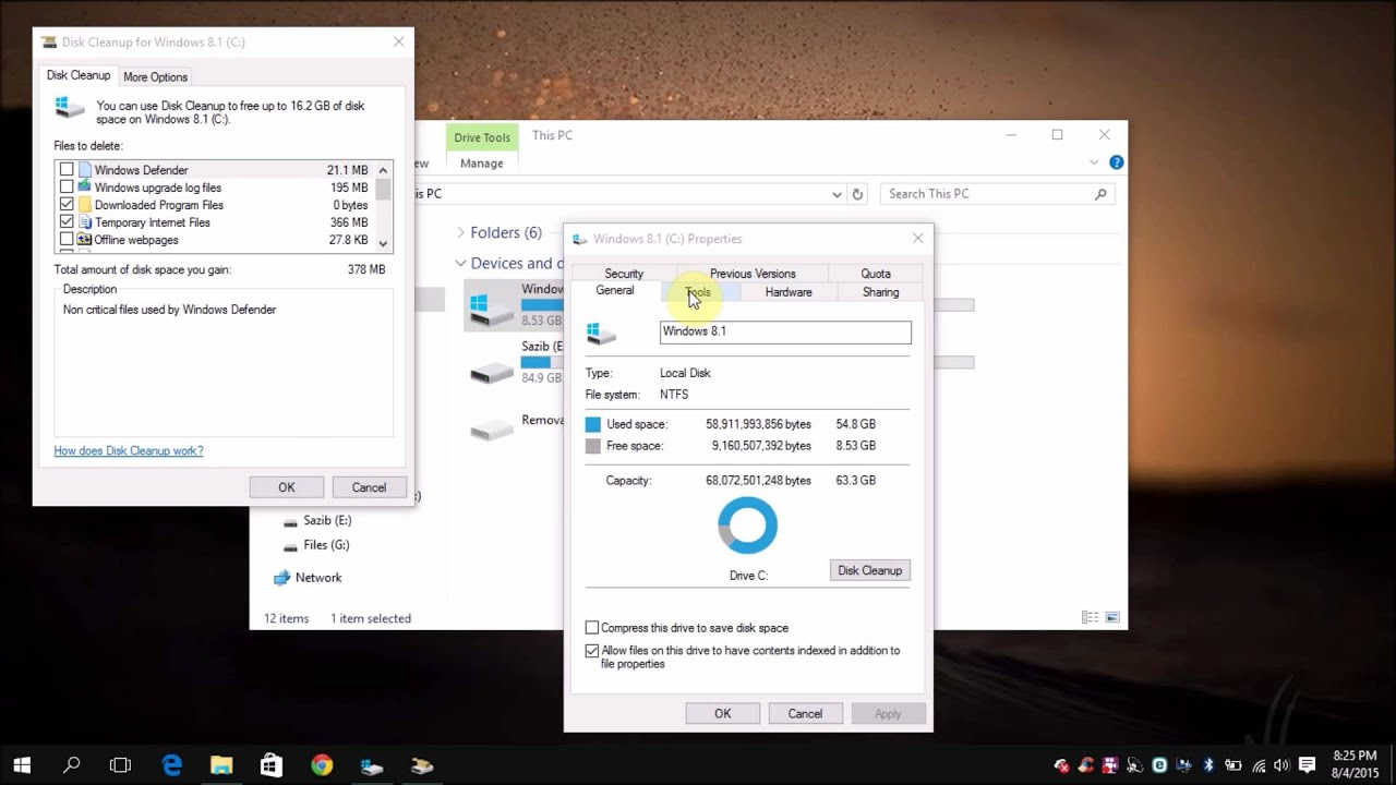 How to clean a C drive in Windows operating systems