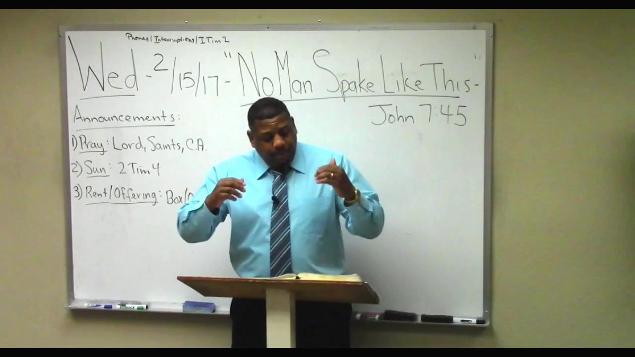 "14) Gospel of JOHN survey (7:45-8:47) ""No Man Spake Like ..."