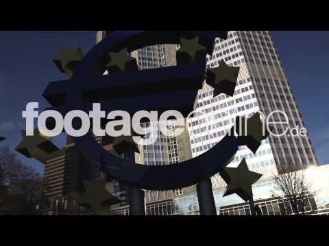 Euro Sign 07 footage 000268 HD