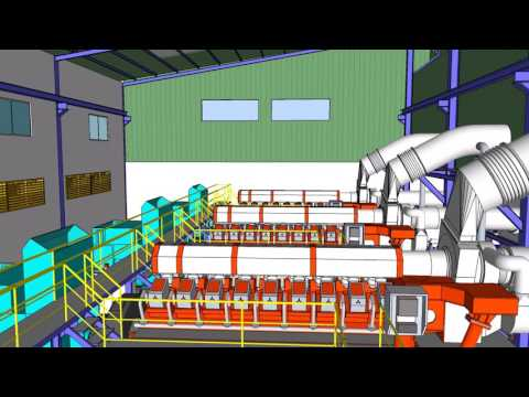 EXAMPLE, GAS ENGINE POWER PLANT 60MW