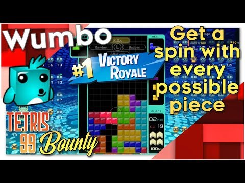 """Tetris 99 Bounty - """"Get a spin with each possible piece"""""""